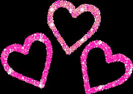 pink hearts love freetoedit
