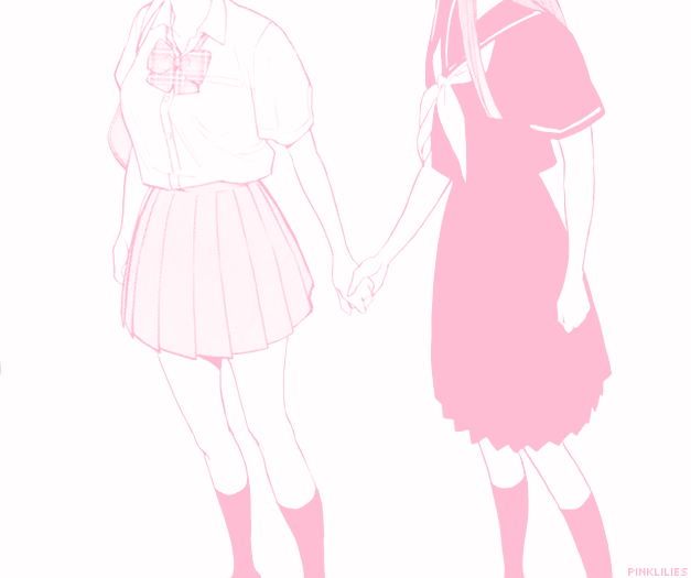 Tumblr Post Notmine Anime Pink Love Friends Friendship