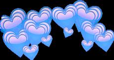 corona coronadecorazones corazon corazones blue