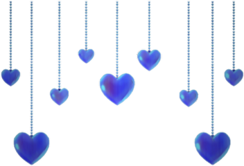 hearts blue bluehearts