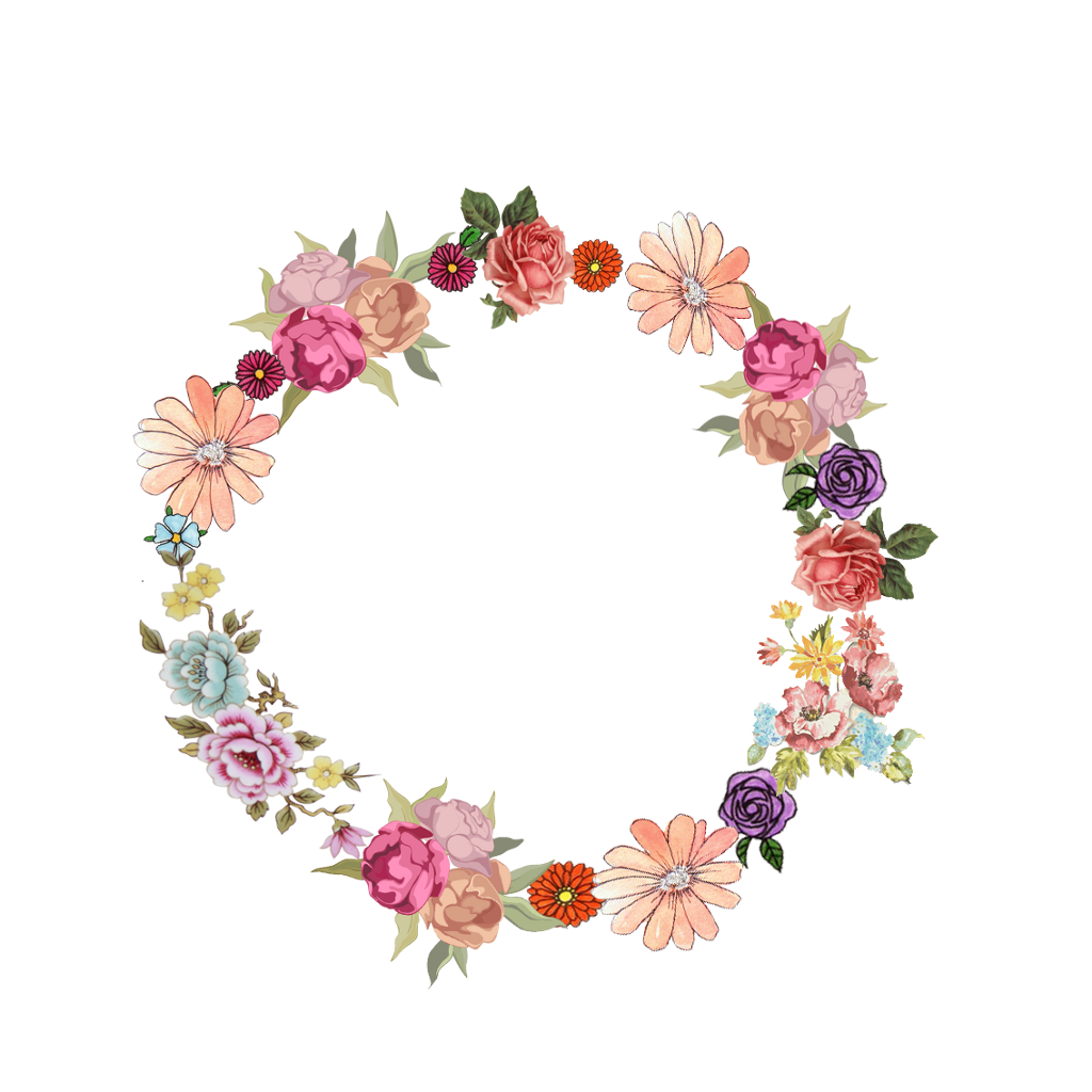Stickers png flores marco