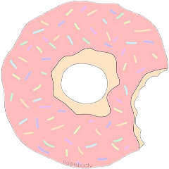 donut pastel colorful food yellow