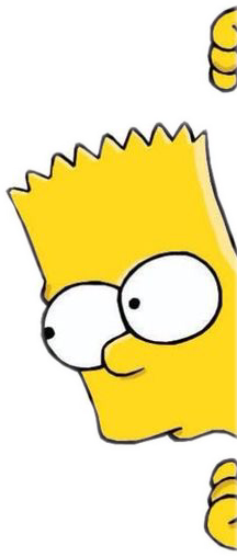 sticker cutout bart simpsons picsart