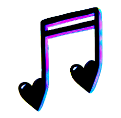 music notes heart freetoedit