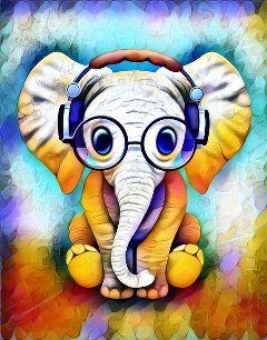 freetoedit elephantday cute