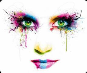 makeup girl colors neon lipstick