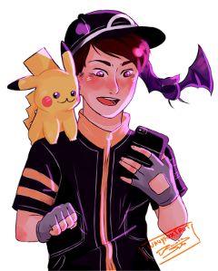 danielhowell danisnotonfire dan phanart pokemon freetoedit