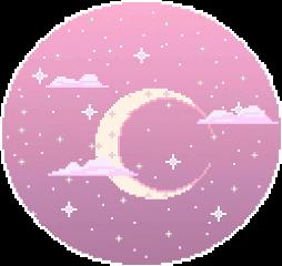 tumblr moon rosa sky freetoedit