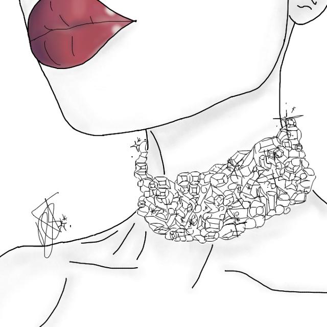 #interesting #art #tumblr #choker #aesthetic #redlips #lastminute #outline #tumblroutline #aestheticoutline #drawing #aestheticdrawing #drawingoutlines #outlinedrawing #diamonds #freetoedit