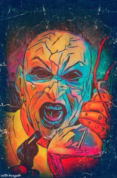 colorful retro vintage horror