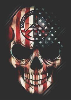 peacesymbolstickerremix skull freetoedit