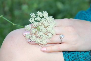flowers white ring dpcmyjewelry