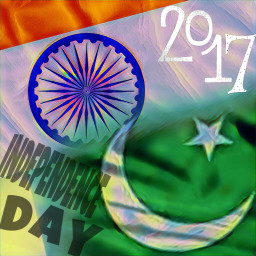 independenceday india pakistan flag freetoedit