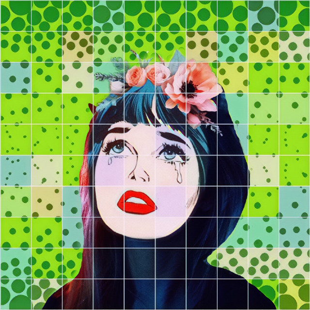 Love gazillion times @nonitash 's edit, that I had to remixed it!!  #popart #offgrideffect #dots #colorbright
