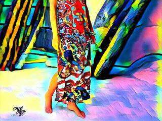 summer barefoot dress southwestcolors summervibes