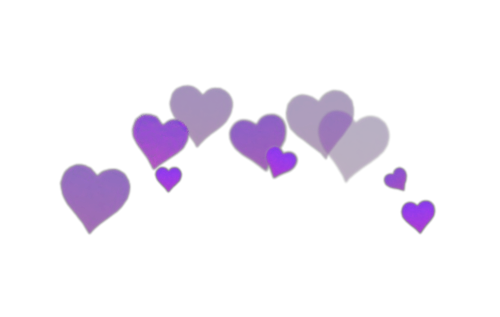 Emotions Png Heart Colorful Purple Emoji Iphone Love