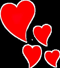 heart hearts coeurs corazones ftestickers