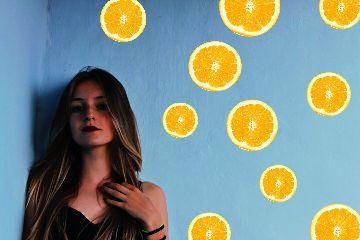 orange oranges colourfull freetoedit