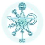 blue glow star witch witchcraft
