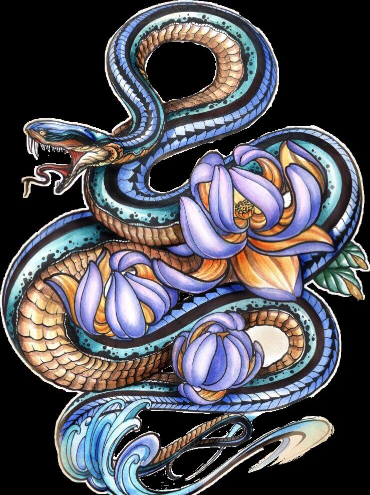 картинки змеи для декупажа