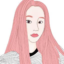 outline tumblr uzzlang girl drawing