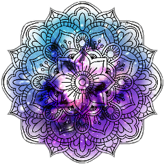 mandala colors effects ftestickers ftstickers