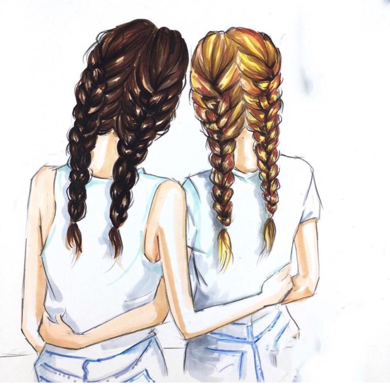 Картинки две подружки с надписями
