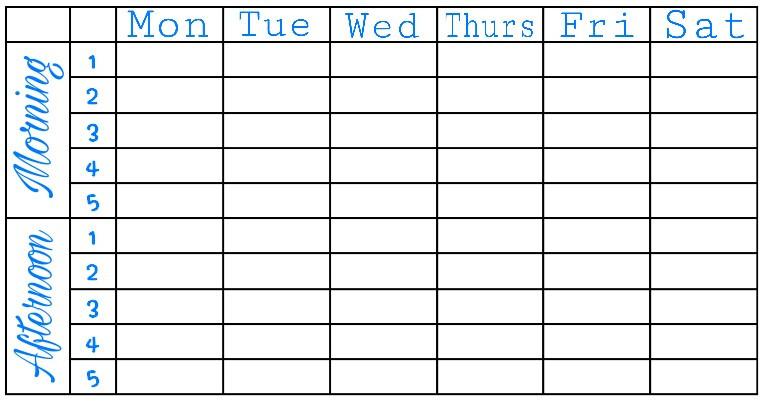 #Schedule #School #Timetable