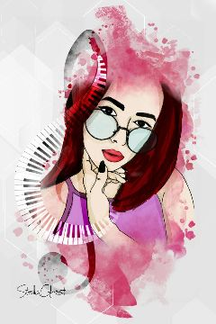 girl style drawing paint draw freetoedit