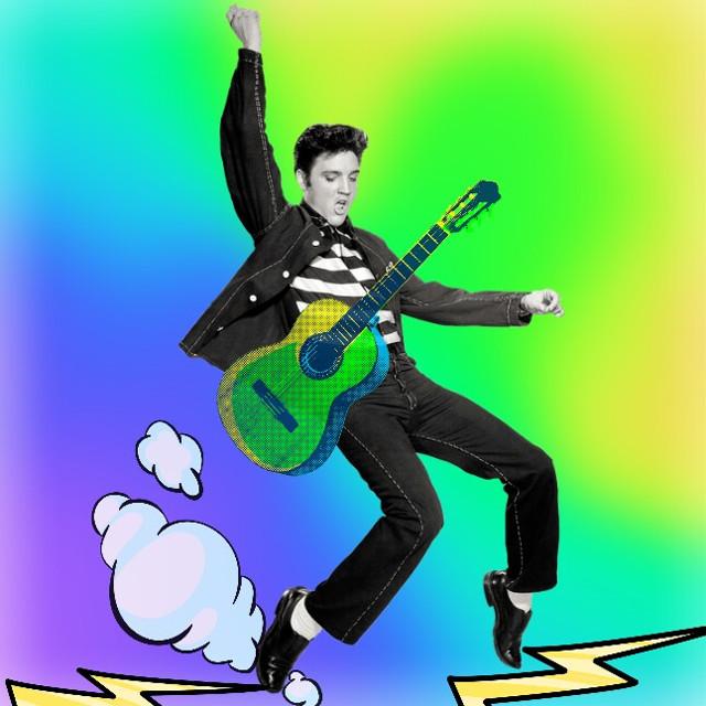 #elvisstickerremix #elvispresley #rockandroll #popart #madewithpicsart