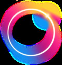 circulo circle sticker rainbow arcoíris