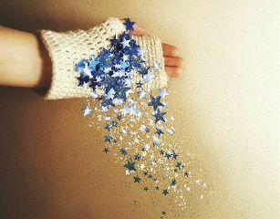 glitter hand enjoythelittlethings stars freetoedit