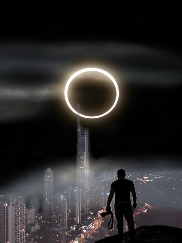 #photographer#eclipse2017 #eclipse #citynight #nightcitylights #night#clouds#fog #myedit#myremix#cityscape#cityview