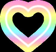 rainbow heart love freetoedit