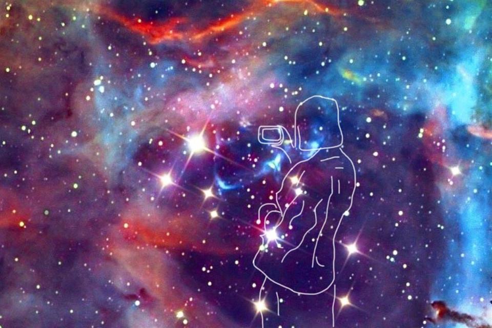 #freetoedit #girl #galaxy #sketched @freetoedit