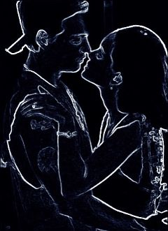 neon freetoedit black couple
