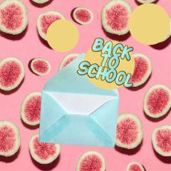 backtoschool school letter melon watermelon freetoedit