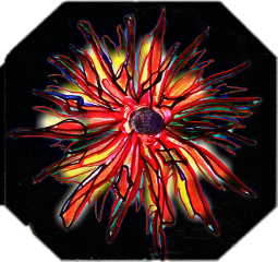 floral sunburst idrewthis abstract freetoedit