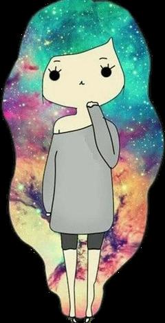 galaxy girl cute inocent freetoedit