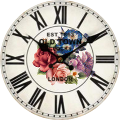 clock flowers freetoedit