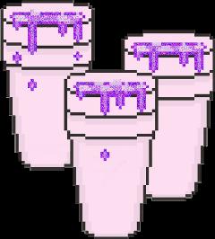 purple glitter pixel drink freetoedit