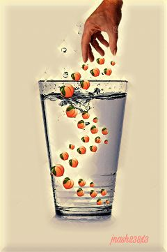 peachday glassofwater peaches glass water freetoedit