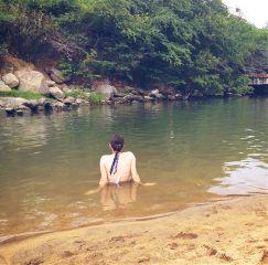 dpcsunbathing water river nature mexico