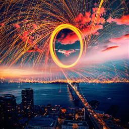 freetoedit ufo ufoart attack firestorm