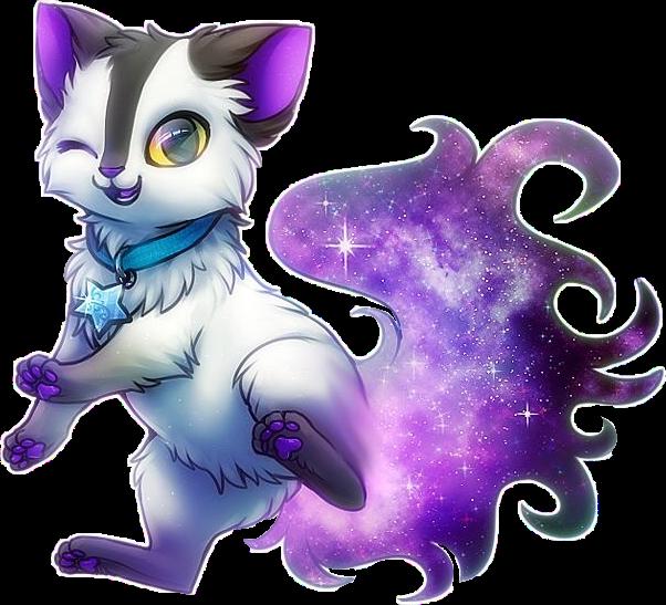 #cat#galaxy#purple#freetoedit