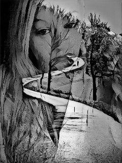 freetoedit doubleexposure blackandwhite artisticselfie selfportrait