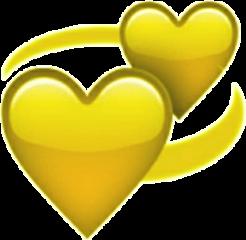 heart yellow 黄色 freetoedit