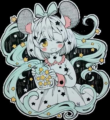 #chibi #kawaii #mouse