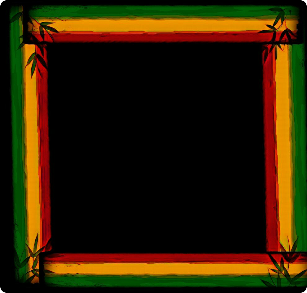 Cadre Portrait Vertjaunerouge Background Rasta Reggae
