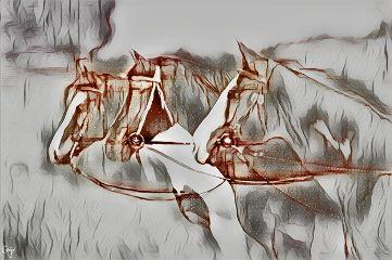 freetoedit horses pencilart